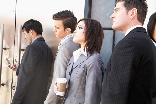 Interview Candidates Waiting in Line